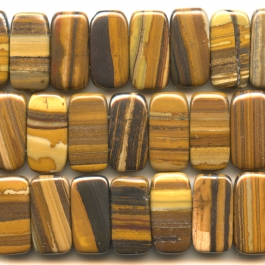 Iron Zebra Jasper 10x20mm Double Drilled Beads - 8 Inch Strand