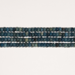 Blue Apatite 8mm Faceted Rondelle Beads - 8 Inch Strand