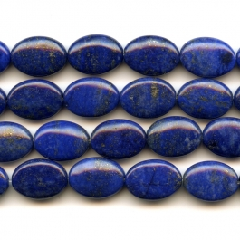 Lapis 10x14mm Oval Beads - 8 Inch Strand