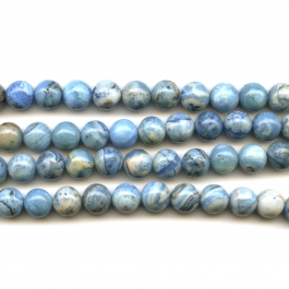 Blue Crazy Lace Agate 10mm Round Beads - 8 Inch Strand