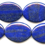 Lapis 30x40mm Oval Beads - 8 Inch Strand