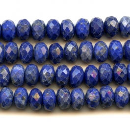 Lapis 4mm Faceted Rondelle Beads - 8 Inch Strand