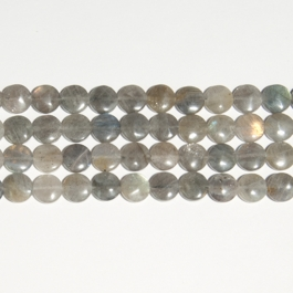 Labradorite 12mm Coin Beads - 8 Inch Strand