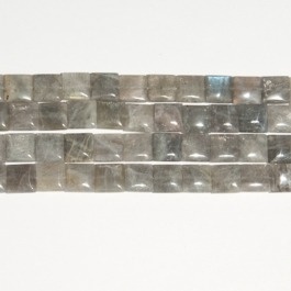 Labradorite 12mm Square Beads - 8 Inch Strand