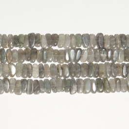 Labradorite 5x15mm Chip Beads - 8 Inch Strand