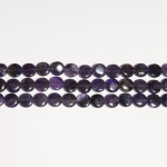 Amethyst 12mm Coin Beads - 8 Inch Strand