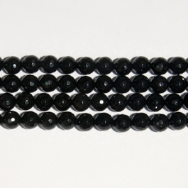 Onyx 10mm Faceted Round Beads - 8 Inch Strand