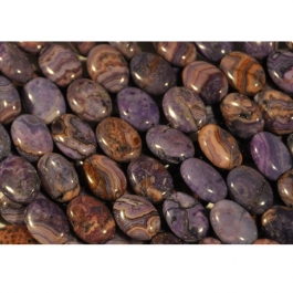 Purple Crazy Lace Agate 10x14mm Oval Beads - 8 Inch Strand