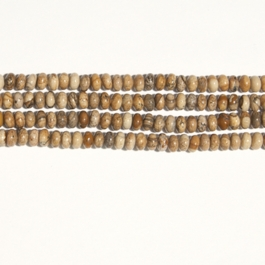 Picture Jasper 6mm Rondelle Beads - 8 Inch Strand