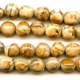 Picture Jasper 8x10mm Nugget Beads - 8 Inch Strand