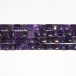 Amethyst 12mm Square Beads - 8 Inch Strand