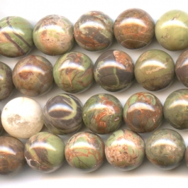 Rainforest Agate 12mm Round Beads - 8 Inch Strand