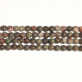 Rainforest Agate 8mm Round Beads - 8 Inch Strand