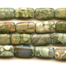 Rhyolite 8x14 Rectangle Beads - 8 Inch Strand