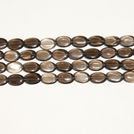 Smoky Quartz 10x14mm Oval Beads - 8 Inch Strand