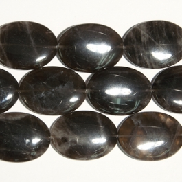 Smoky Quartz 30x40mm Oval Beads - 8 Inch Strand
