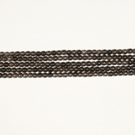 Smoky Quartz 4mm Round Beads - 8 Inch Strand