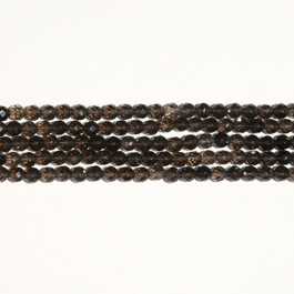 Smoky Quartz 6mm Faceted Round Beads - 8 Inch Strand