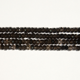 Smoky Quartz 8mm Faceted Rondelle Beads - 8 Inch Strand