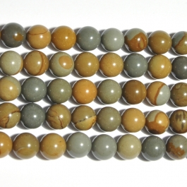Wildhorse Picture Jasper 10mm Round Beads - 8 Inch Strand