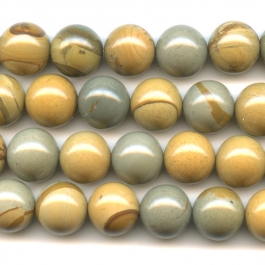 Wildhorse Picture Jasper 12mm Round Beads - 8 Inch Strand