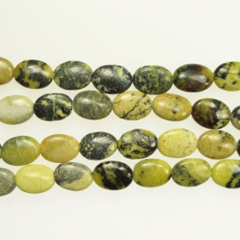 Yellow Turquoise 10x14mm Oval Beads - 8 Inch Strand