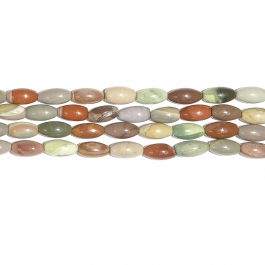 Imperial Jasper 8x16 Rice Beads - 8 Inch Strand