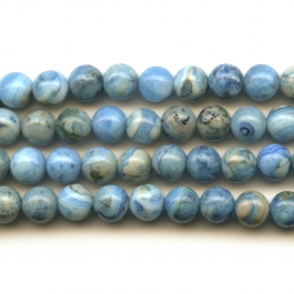 Blue Crazy Lace Agate 6mm Round Beads - 8 Inch Strand