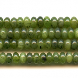 Jade 6mm Rondelle Beads - 8 Inch Strand