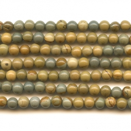 Wildhorse Picture Jasper 4mm Round Beads - 8 Inch Strand