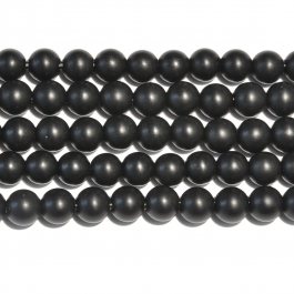 Matte Onyx 8mm Round Large Hole Beads - 8 Inch Strand