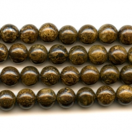 Bronzite 8mm Round Gemstone Beads - 8 Inch Strand
