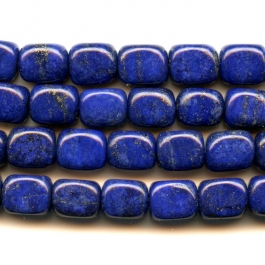 Lapis 8x10mm Tumbled Nugget Beads - 8 Inch Strand