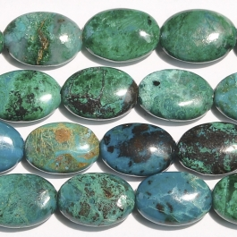 Chrysocolla 10x14mm Oval Beads - 8 Inch Strand
