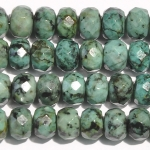 African Turquoise 8mm Faceted Rondelle Beads - 8 Inch Strand