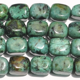 African Turquoise 8x10mm Tumble Nugget Beads - 8 Inch Strand