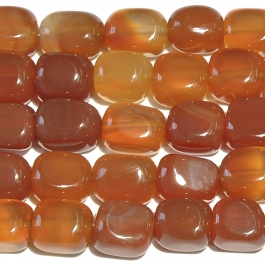 Carnelian 8x10mm Tumble Nugget Beads - 8 Inch Strand