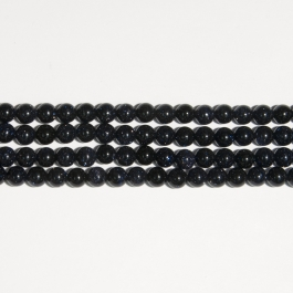 Blue Goldstone 8mm Round Beads - 8 Inch Strand