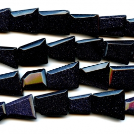 Blue Goldstone 18x25 Faceted Trapezoid Beads - 8 Inch Strand