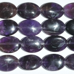 Amethyst 13x18mm Oval Beads - 8 Inch Strand