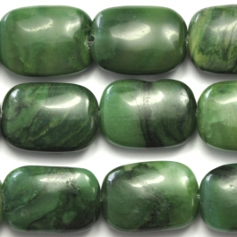 West African Jade 10x14 Rectangle 8 Inch Strand