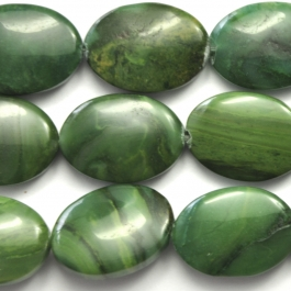 West African Jade 13x18 Oval 8 Inch Strand