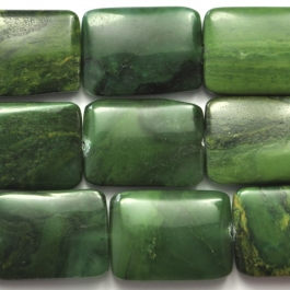 West African Jade 13x18 Rectangle 8 Inch Strand