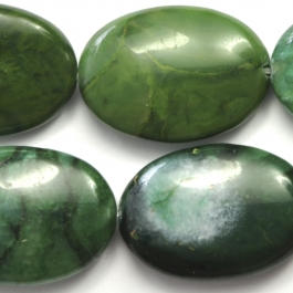 West African Jade 18x25 Oval 8 Inch Strand