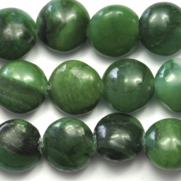 West African Jade 8mm Coin 8 Inch Strand