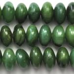 West African Jade 8mm Rondelle 8 Inch Strand
