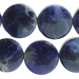 Sodalite 12mm Coin 8 inch Strand
