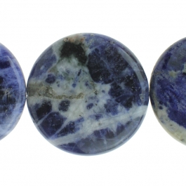 Sodalite 30mm Coin 8 inch Strand