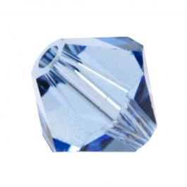 4mm Light Sapphire 5301 Bi-Cone Swarovski Crystal Bead - Pack of 10