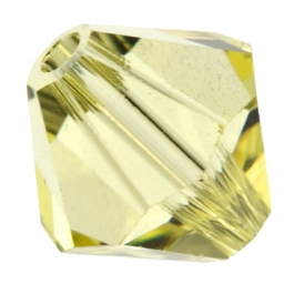 8mm Jonquil 5301 Bi-Cone Swarovski Beads - Pk of 6